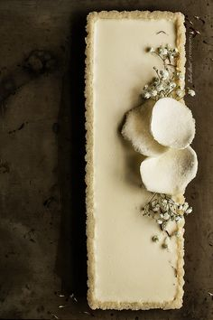 gluten free tart with lychee and coconut panna cotta...