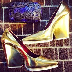 gold wedge! haha amazing