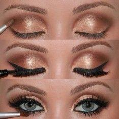Mooie, goud/bruine oogschaduw