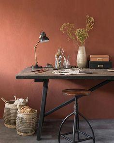 The color terracotta imposes its sunny hue in the house - deco Minimalist Decor, Modern Minimalist, Estilo Interior, Diy Home Decor, Room Decor, Elegant Homes, Zara Home, Home Decor Inspiration, Wall Colors
