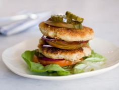 Served stacked or on a platter, these vegan and gluten-free burgers are easier to make than they look.  on goop.com. http://goop.com/recipes/cannellini-bean-quinoa-burgers/