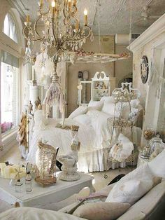 Love the old window hanging over the bed...and lots of other things, too! :)