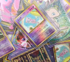 """""""Mew is a small, pink, genderless Psychic-type Mythical Pokémon. Its DNA combines the genetic composition of all existing Pokémon species; scientists view it as being the single ancestor of all other Pokémon"""" * * * Howleen Wolf, Creepy, E Dawn, Mo S, 90s Kids, Soft Grunge, Pokemon Cards, Vaporwave, Wall Collage"""