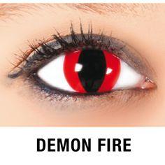 Halloween Kontaktlinsen Rot 'Demon Fire'
