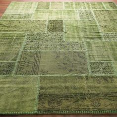 Reclaimed Vintage Patchwork Over-Dyed Rug: 6 Colors