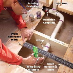Preformed, one-piece shower bases make installing a new shower much easier. This article explains the process, from ripping out the old shower or tub to installing the plumbing. Shower Fittings, Bathroom Plumbing, Basement Bathroom, Pex Plumbing, Basement Toilet, Plumbing Humor, Water Plumbing, Plumbing Fixtures, Bathroom Fixtures