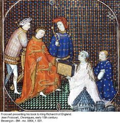 Froissart presenting his book to King Richard II of England, early 15th century.