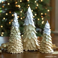 Holiday Paper Trees for Hazel & Ruby