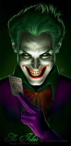 My Joker Illustration! Finally, after many, many days of sorrows, I finally finished it! My first complex digital painting! The Joker Joker Batman, Joker Y Harley Quinn, Joker Art, The Joker, Joker Arkham, Gotham Batman, Batman Art, Batman Robin, Comic Book Characters