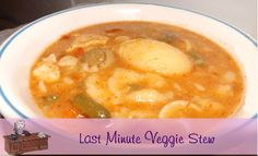 Vegetarian Recipe For Last Minute Veggie Stew