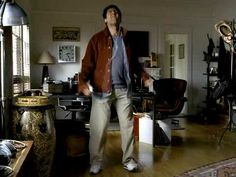 """First iPod Commercial from 2001–Propellerheads playing Take California, quite appropriate for an Apple product, """"designed in California"""". Notice also the creation of the personal listening space of the iPod as better than the more social loudspeaker space, setting the true dancing spirit of the artist free, but also by the audibly enhanced sound canvas of the headphones. And that nerdy Mac guy is so far from the hip abstract contours of the later iPod commercials."""