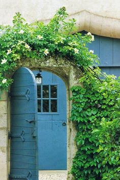 blue cottage door