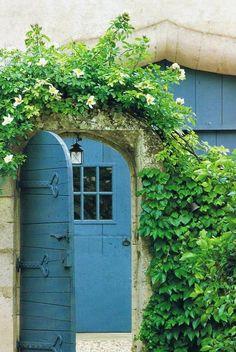 blue cottage door