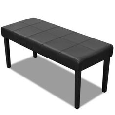 New Leather Bench Stool Seat Timber Frame Chair Black Bedroom Dining Furniture Dining Furniture, Dining Bench, Home Furniture, Furniture Design, Bench Stool, Ottoman Bench, Chair, Accent Bench, Leather Bench