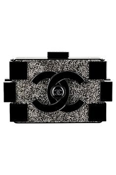558e644f2cab Overdose on Chanel — Chanel Black Plexiglass Clutch With Strass