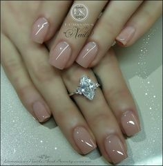 If you want your acrylic look like Natural Nails Just put simple nude color or clear gels on your nails. French tips are also nice for natural nails design. Classy Acrylic Nails, Natural Acrylic Nails, Clear Acrylic Nails, Acrylic Nail Designs, Clear Nails, Fancy Nails, Pink Nails, Cute Nails, Pretty Nails