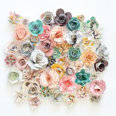 237 best rolled paper flowers images on pinterest fabrics fabric rolled paper flowers by paigeevans at studiocalico mightylinksfo