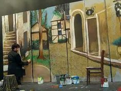 Interesting, amusing, but rather long: THE JOY OF SETS: Theatrical Scenic Painting Unleashed - YouTube. Research for Death in Perspective.