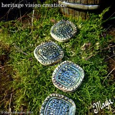 Fairy Garden Stepping Stones Set 13  Set of 4 by HeritageVision