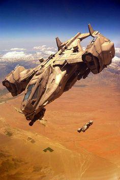 Heavy Dropship by GrahamTG on DeviantArt Spaceship Art, Spaceship Design, Science Fiction Kunst, Gato Anime, Starship Concept, Concept Art World, Sci Fi Ships, Concept Ships, Aircraft Design