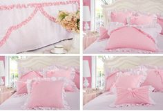 Girls Princess Bedding   ... Girls Lace Ruffled Bowtie Princess Pastoral Bedding-Kids Bedding Sets
