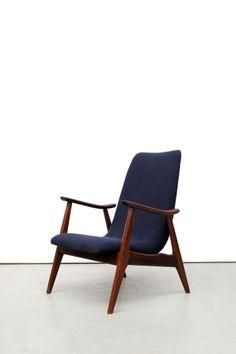 _MG_1199Blauwe vintage design fauteuil