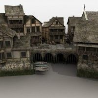 Medieval Fantasy Village in Vendor, Cornucopia3D, 3D Models by Daz 3D