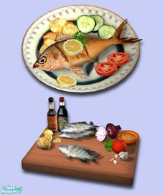 Can't Download/ Sims 2  exnem's Fried Fish (Mojarra)