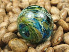 Into the Fire Lampwork Art Beads ~Caribbean Vibe~ Artist handmade glass bead SRA