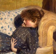 Philip Wilson Steer Girl on a Sofa 1891 - British Impressionist