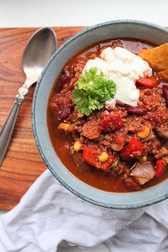SU-retten over dem alle: Chili sin carne med Naturli' hakket. Sundt og nemt!