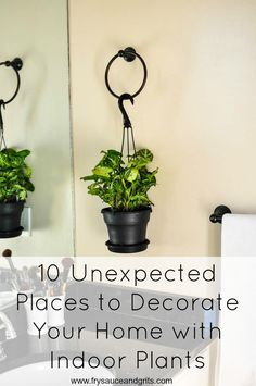 10 Unexpected Places to Decorate Your Home with Indoor Plants Fry Sauce & Grits FrySauceandGrits.com