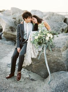 Best Gray Coast Wedding Inspiration  . photographer: Piper Vine photography / venue: Tybee Island / stylist & designer: Design Studio South / floral designer: A to Zinnia Floral and Gifts / dress designer: Leanne Marshall / cake designer: Savannah's Hall of Cakes / hair & makeup: Beyond Beautiful By Heather / men's formalwear: Alton Lane / rentals: Savannah Vintage Rentals / rings: Trumpet & Horn / earrings: Kendra Scott / shoe designer: Badgley Mischka / calligraphy: Rachel Anne / linen…