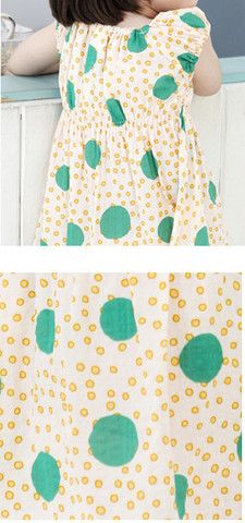 Bubbles Print Shirred Shoulder Dress for girls kids fashion at colormewhimsy 10