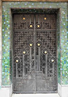 art deco door