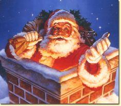 Merry Christmas everyone. Happy holidays to you all. Magical Christmas, Father Christmas, Santa Christmas, Christmas Time, Christmas Ideas, Xmas, Christmas Drawing, Christmas Paintings, Christmas Scenes