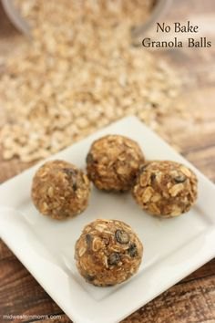 MOM - I'm Hungry! When snack time hits, these No Bake Granola Balls are the perfect snack for the kids and adults.