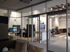 Dirtt! Glass office design.