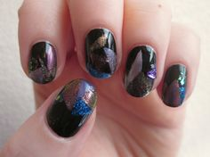 gem and geode inspired geometric jewel tones #nails