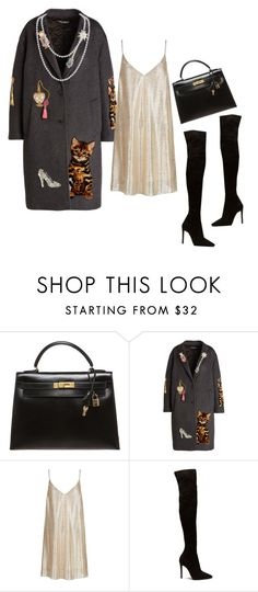"""Untitled #487"" by mitchell1234 ❤ liked on Polyvore featuring Hermès, Dolce&Gabbana, New Look and Humble Chic"