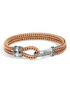 John Hardy men's bracelet from the Classic Chain collection. Metal Jewelry, Sterling Silver Bracelets, Sterling Silver Jewelry, Silver Ring, Modern Jewelry, 925 Silver, Viking Knit Jewelry, John Hardy Bracelet, Hook Bracelet