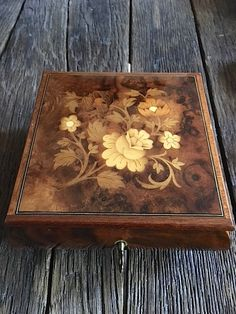 Vintage Reuge Music Box Jewelry Box Wooded Music Box by WoodWell