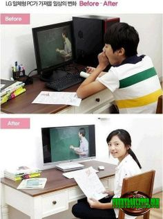 ROFL, this is funny LG new monitor CF before after