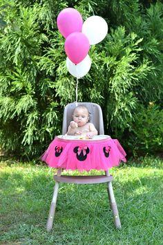 Rosa Minnie Mouse silla Tutu decoraciónEnvío gratis