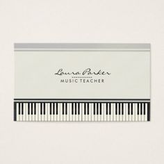 #name - #Music Teacher Piano Keyboard Musician Pianist Business Card