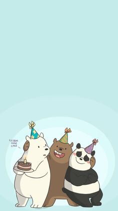 We bara bear, Cute Panda Wallpaper, Cartoon Wallpaper Iphone, Bear Wallpaper, Cute Disney Wallpaper, Kawaii Wallpaper, Cute Wallpaper Backgrounds, We Bare Bears Wallpapers, Panda Wallpapers, Cute Cartoon Wallpapers