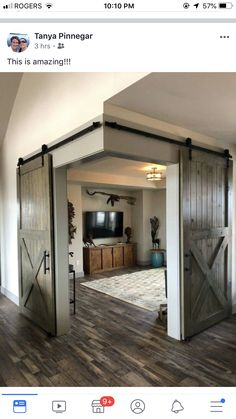 Home Interior Blue .Home Interior Blue Dream Home Design, My Dream Home, Home Interior Design, Interior Rugs, Living Room Interior, Kitchen Interior, Rustic House Design, Interior Modern, Interior Barn Doors