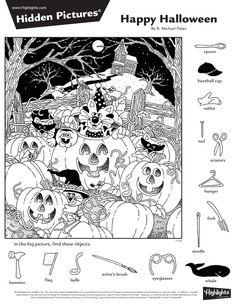 Halloween Worksheets, Fun Worksheets, Halloween Activities, Library Activities, Art Activities For Kids, Kindergarten Activities, Hidden Picture Games, Hidden Picture Puzzles, Halloween Cat