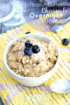 Peanut Butter Cheesecake Overnight Oats | Chelsea's Messy Apron