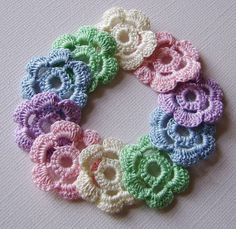 10 pastel rosettes for your craft by anordicrose on Etsy, $8.00